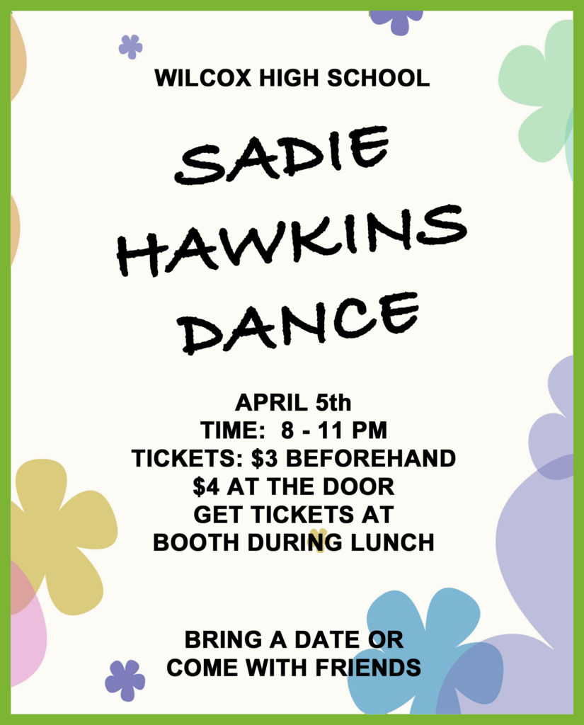 Sadie Hawkins Announcement
