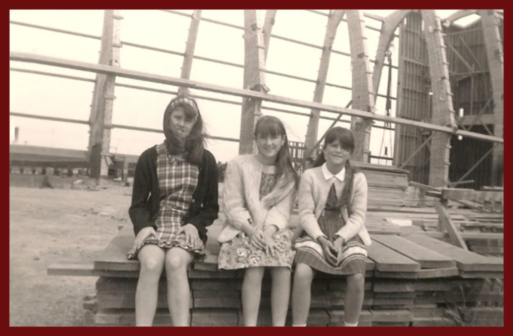 With my sisters in '66