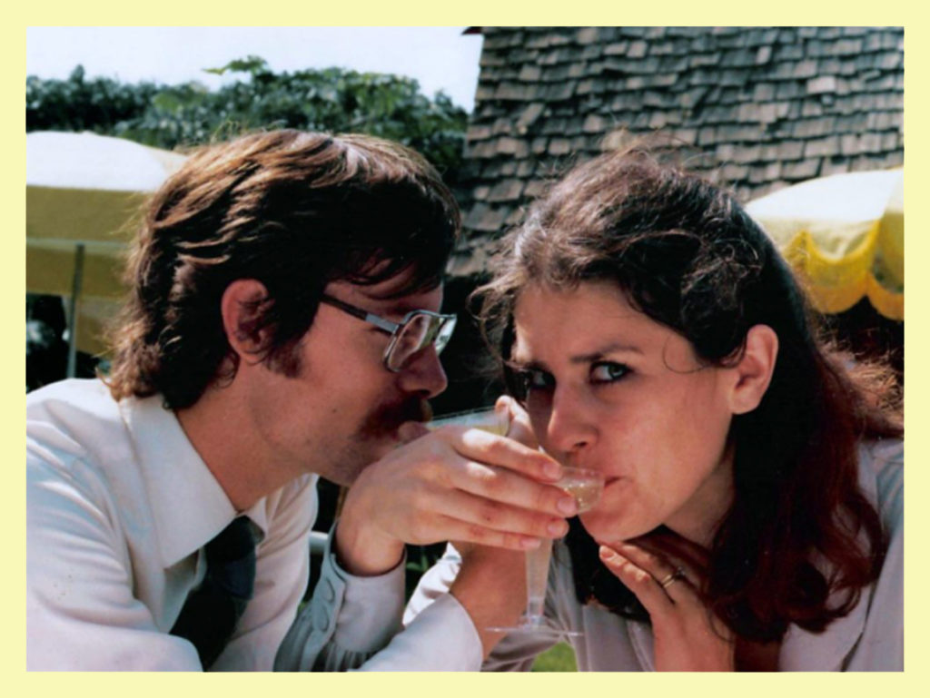 J and I circa 1980 - at a wedding.