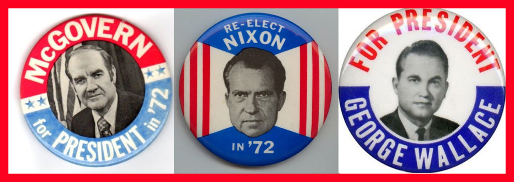 1972 Campaign Buttons