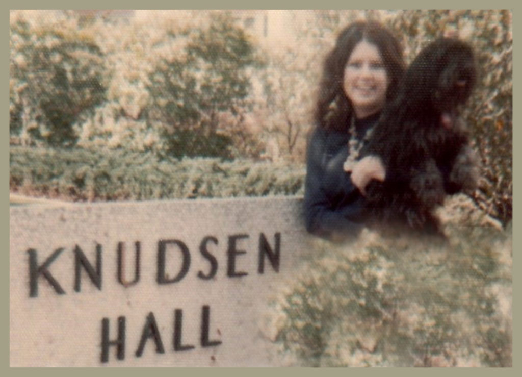 In front of Knudsen Hall, UCLA (our name was spelled with a T not a D)