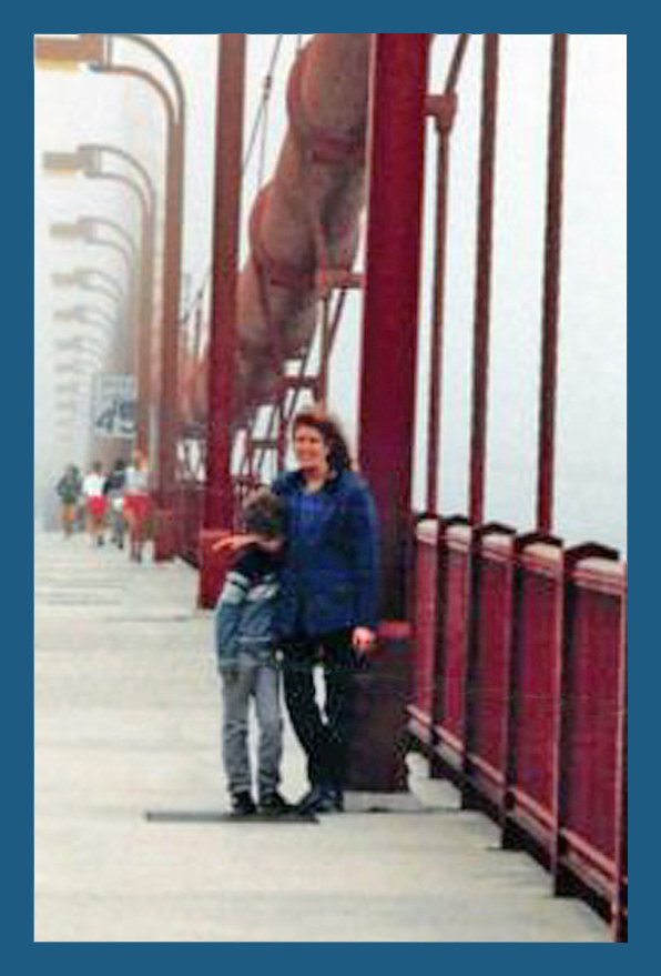 CD & me on the Golden Gate Bridge