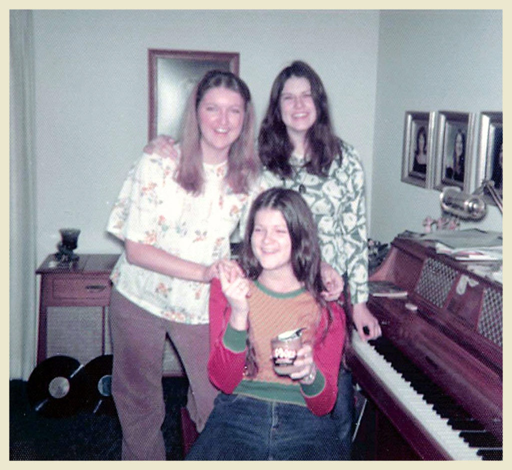 My sisters and I, Christmas '74