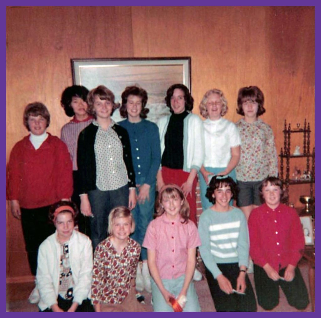 Top row from right to left Natalie Nilsen, Susan Tanaka, Donna Duncan, Moi, Loretta Dirks, Julie Farnham, Sandy Walker