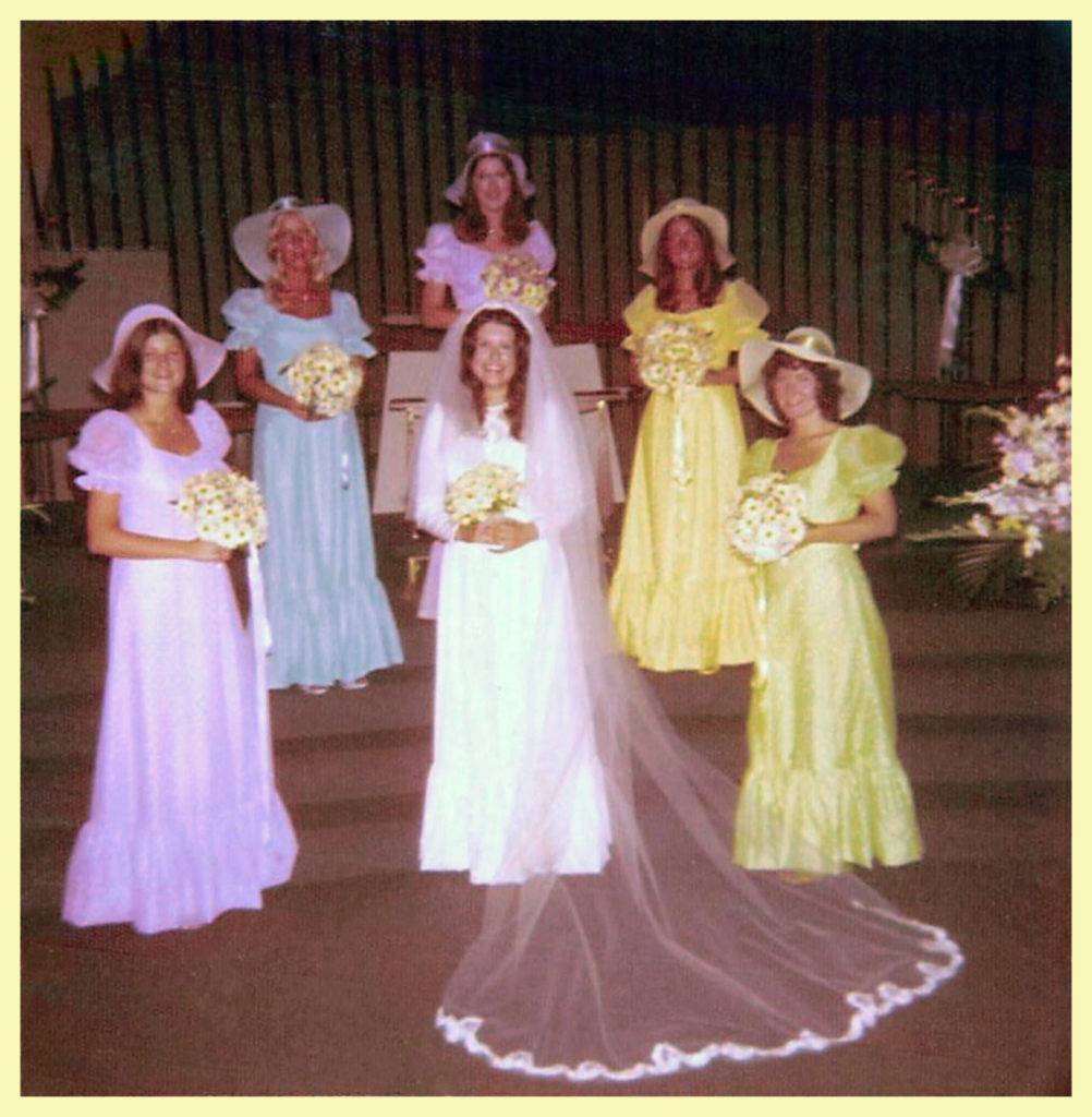 Gail is part of the bridal party (in lime green) - I'm still apologizing about the dresses!