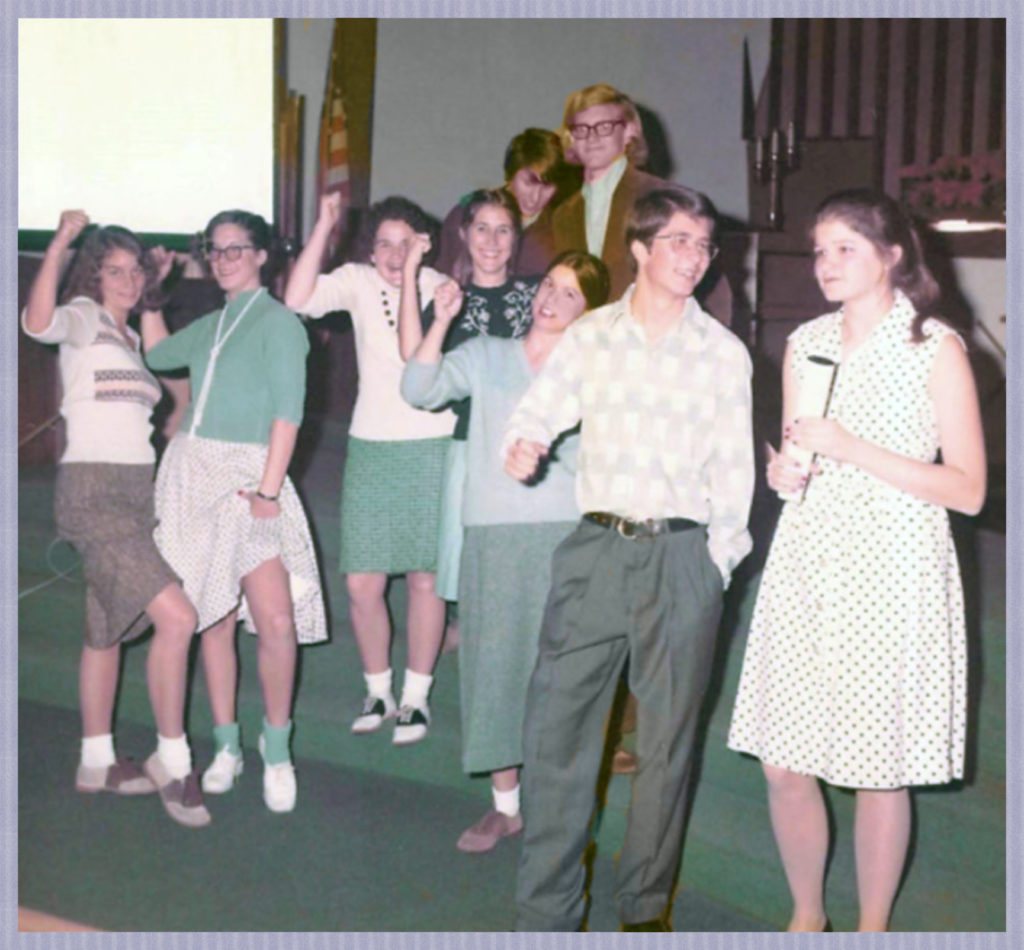 Joyce and Eric Onstad in a skit at Clairemont Lutheran in San Diego - Joyce was always much better in groups than me.