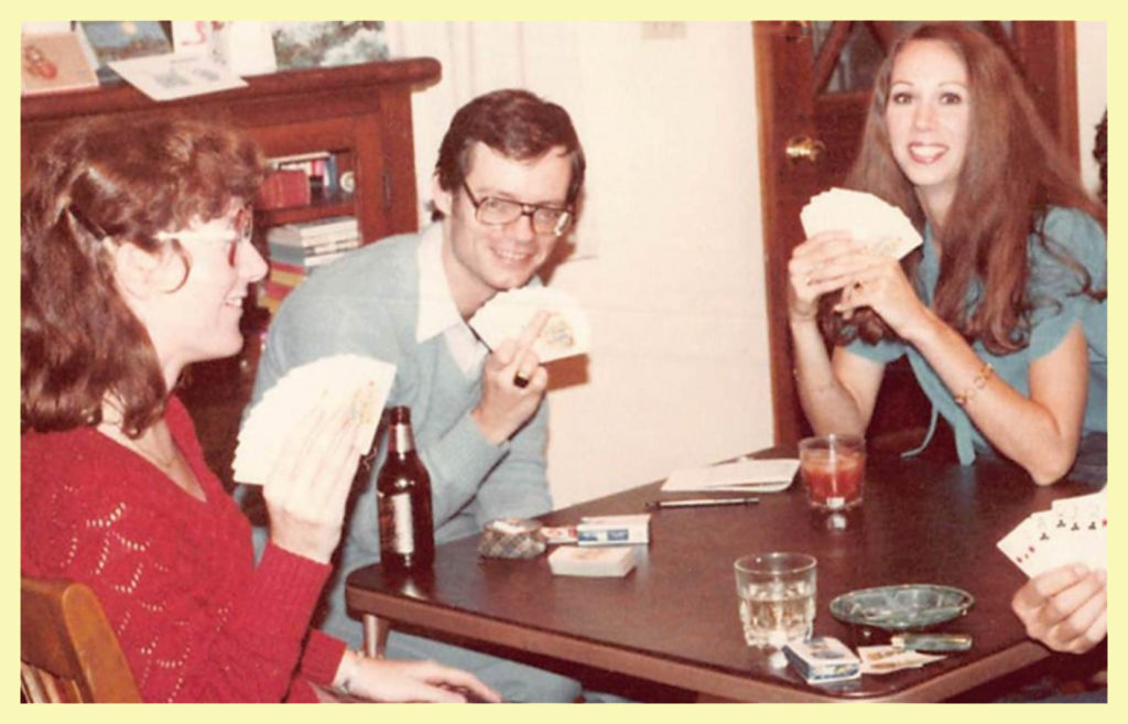 Judith playing bridge with me, J and Gail. I grieve for the Judith I knew in the past. I think she had a lot to give, but we'll never know. I wish she'd let someone help her but she was adamant – to Judith, life without booze looked worse than death. So, of course, it had to end like this.