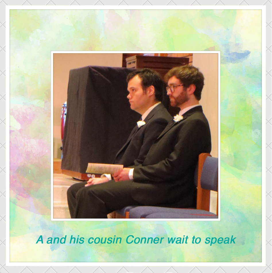 A and his cousin Conner wait to speak