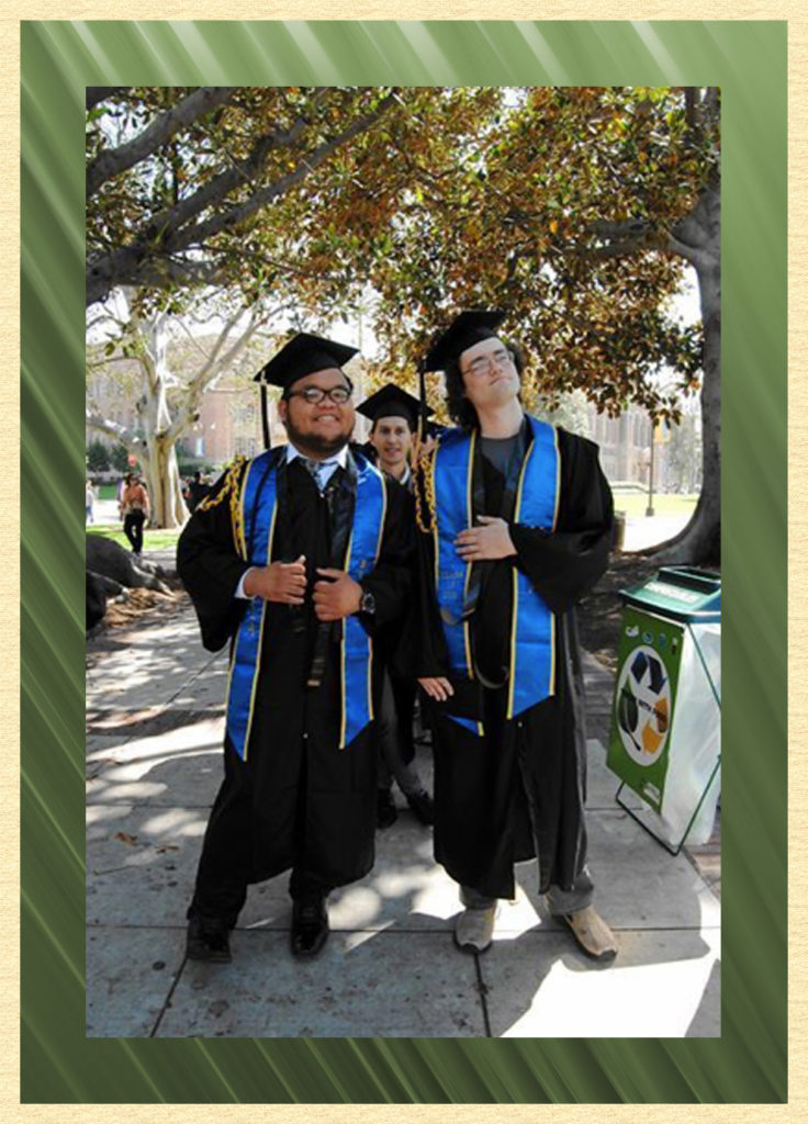 CD & classmates at UCLA graduation