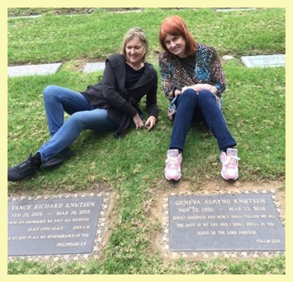 Janet and I at the gravesite