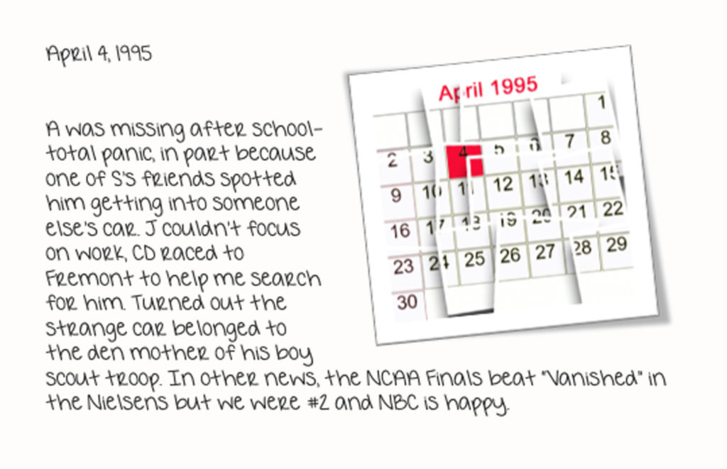 April 4, 1995 Diary