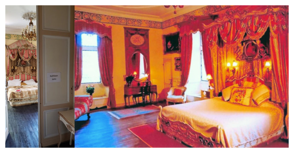 A bedroom fit for a king, occupied by John and me.