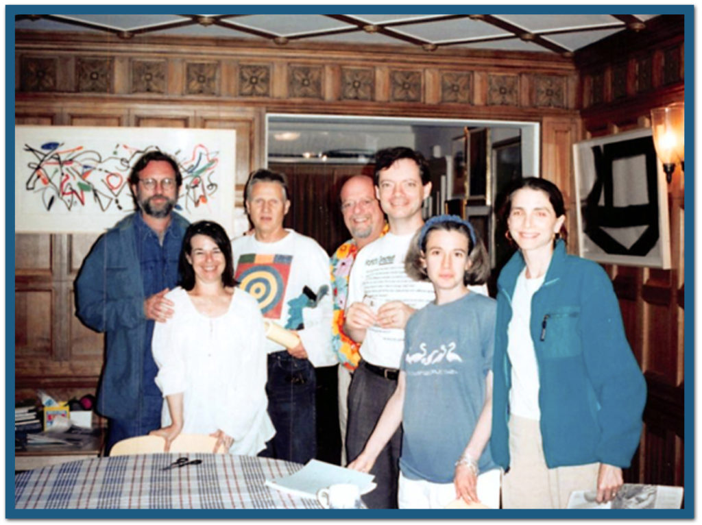 David Schnorr (?), Dianne Simon (?), Dale, Michael Elias, J, Debbie Blum, Laraine Mestman (I'm taking the photo)