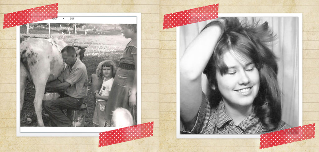 I'm the sullen Iowa girl at right - I've never been to California - By 1966, I'm a sophisticated California girl!