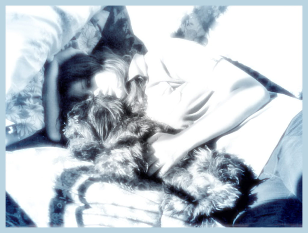 Inga and I catch some zzzzs on the family room sofa.