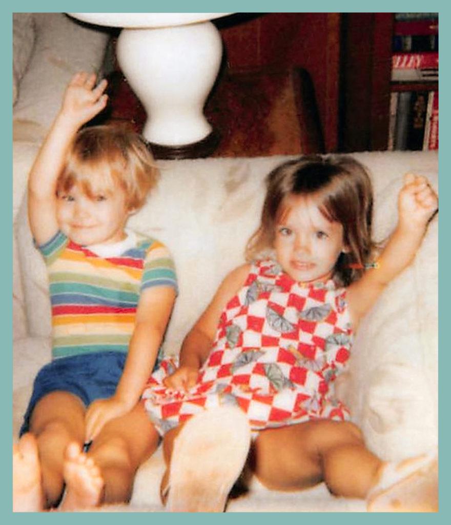 Tata & Anni both salute
