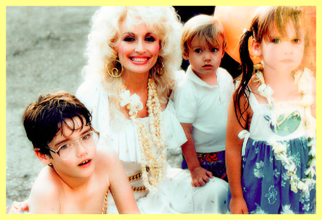 Dolly with all three of my children