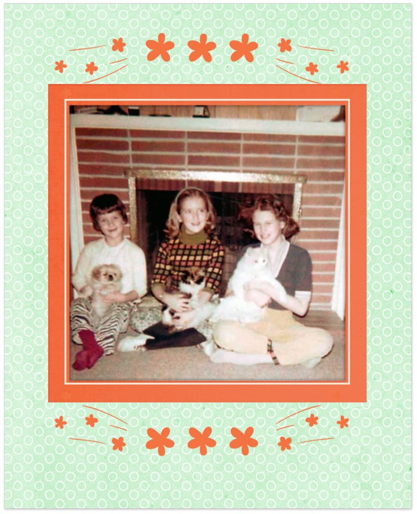 Joyce with Lady, Janet with Princess, me with Abner